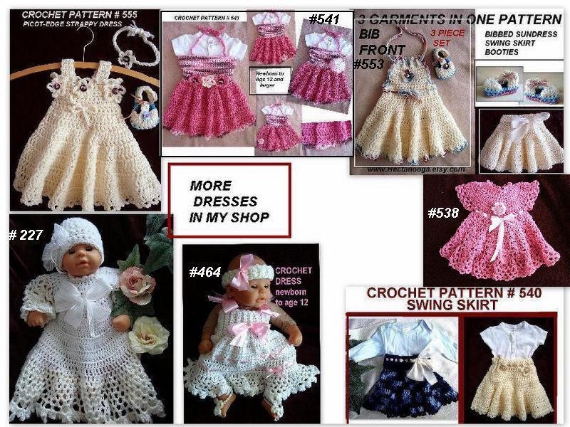 Crochet pattern baby dress girls dress newborn to age 12 and crochet pattern baby dress girls dress newborn to age 12 and larger tube top dress number 541 from hectanooga on etsy studio dt1010fo