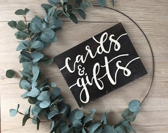 Cards and Gifts Tabletop Wedding Sign