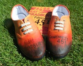 Fahrenheit 451 - Custom Shoes