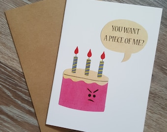 Birthday Greeting Card, Happy Birthday Card, Funny Birthday Card Boyfriend, Dad Birthday Card, Pun Card, Birthday Card for Husband
