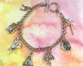 Sleeping Beauty Maleficent Charm Bracelet