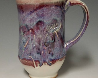 Handmade wheel thrown ceramic mug #1132