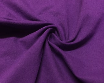 """Purple Cotton Jersey Lycra Spandex Knit Stretch Fabric 58/60"""" wide All colors"""