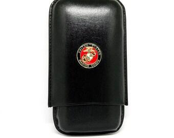 US Marines Cigar Case – 1″ Color