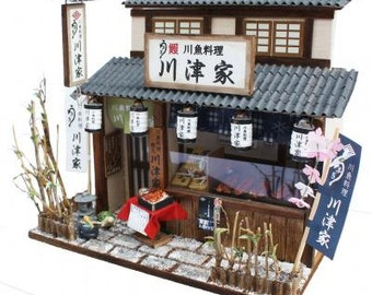 Billy DIY dollhouse : Shibamata Eel Shop /DIY dollhouse/Japanese style dollhouse/Billy dollhouse/Billy miniature,from Japan