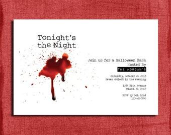 "Halloween ""Dexter"" Inspired Party Invitation Printable-DIY"