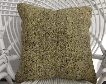 handmade pillow 16x16 Yellow Pillow Vintage Turkish Kilim Pillow Ethnic Pillow Decorative Kilim Pillow Floor Pillow Kilim Pillow 900