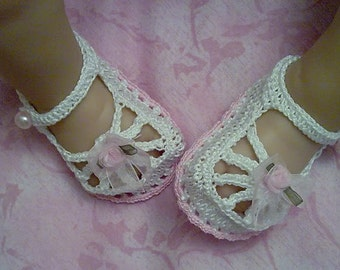 New Born , Premiee, Baby Booties / Shoes, Cotton Crochet *** PATTERN ***
