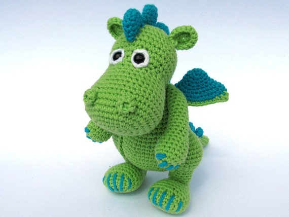 Amigurumi Crochet Books : Dragon draco amigurumi crochet pattern pdf e book stuffed