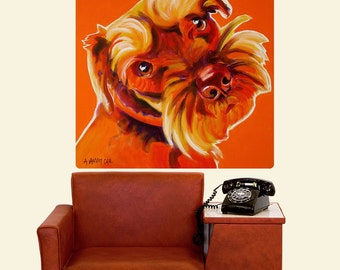 Orange Schnauzer Dog Wall Decal - #59967