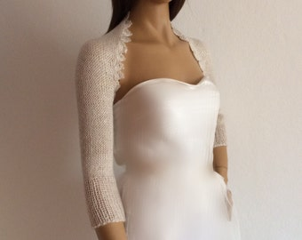 Bridal Shrug, Wedding Bolero, Bridal Cover Up, Evening Shrug, Bridal Sweater with Hand Warmers