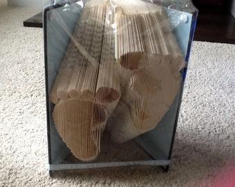 Baby feet boy folded book art
