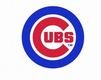 Chicago Cubs SVG, Chicago team, baseball team, chicago cubs logo ,chicago svg files, cubs clipart, chicago cubs svg, cutting files