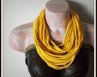 Soft Yellow Infinity Jersey Scarf