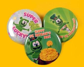 Gummibär (The Gummy Bear) Saint Patrick's Day Button Set