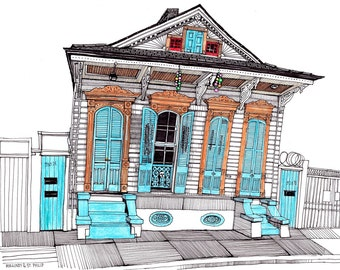 New Orleans Architectural Wall Art