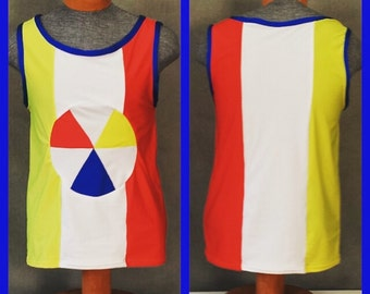 """MADE TO ORDER Katy Perry """"Beach Ball"""" Superbowl Costume Inspired Tank Top for Men"""