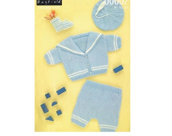 Vintage Pattern Baby Knitted Sailor Suit PDF Download