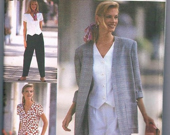 Simplicity 8964 Misses Pant or Shorts, Top and Unlined Jacket Plus Sizes 18-20-22 UNCUT