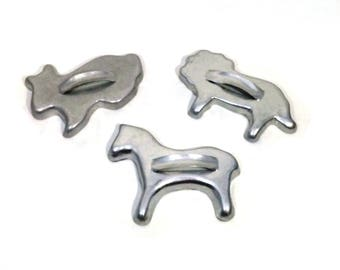 Vintage Animal Cookie Cutters Aluminum