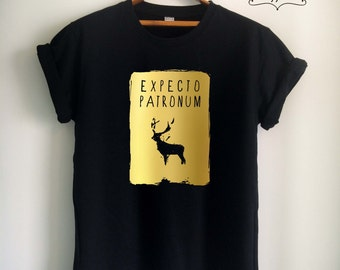 Expecto Patronum Shirt Expecto Patronum T Shirt Potter Shirt Potter T Shirt Gold for Women Girls Men Potter Top Tee White/Black/Grey/Red