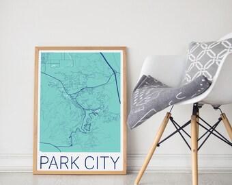 Park City Map / Park City Utah / Park City Poster / Park City Print / Park City Wall Art