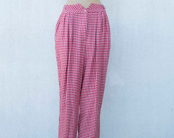 Vintage pants 1980s pied de poule-Made in Italy-not used/remainder - Vintage stock - pied de poule - new with tag