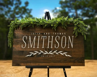 Custom wooden welcome wedding sign calligraphy wedding sign personalized wood wedding sign welcome wedding sign wooden wedding sign modern wedding sign wood decor wedding gift gp1181 junglespirit Choice Image