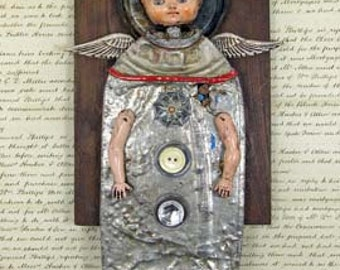 Original Asssemblage Mixed Media - Angel Give