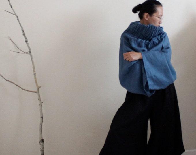 Custom Ninja linen pants  / wide leg pants / yoga pants / linen pants / hippie pants / women pants / custom length / elastic waist pants