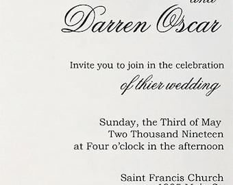 Personalized Invitation - Tan Wedding Invitation