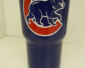 Powder Coated Tumbler Chicago Cubs