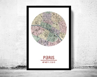 PARIS - city poster - city map poster print
