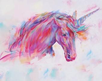 Unicorn or Elephant Painting Fine Art Print