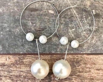 Silver metal and pearl