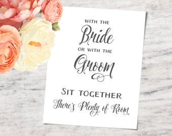 Wedding Seating Sign, Printable and SVG Bundle - INSTANT DOWNLOAD