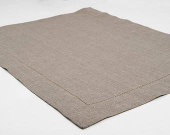 Linen Placemats | Set of 4 | Placemats | Table Mats | Gray Placemats | Burlap | Rustic | Pure | Natural Flax Placemats For Dining Table