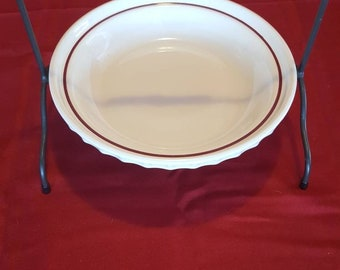 Longaberger pie dish with wrought iron stand. & Longaberger pie   Etsy