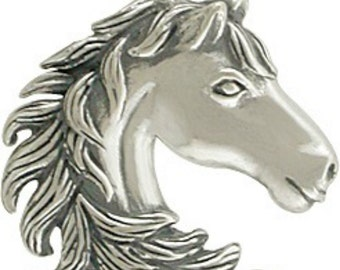 Sterling Silver, Horse Head, Horse Charm, Silver Horse Charm, Horse Jewelry, Rodeo Charm, Cowboy Charm, Cowgirl Charm, Western Charm
