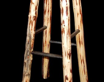 Rustic bar stool mountain hewn
