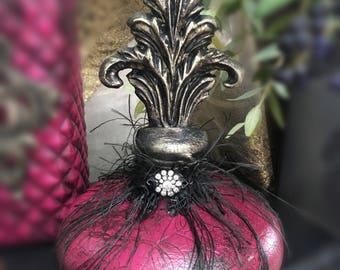 Small Dark Pink Decorative Bottle