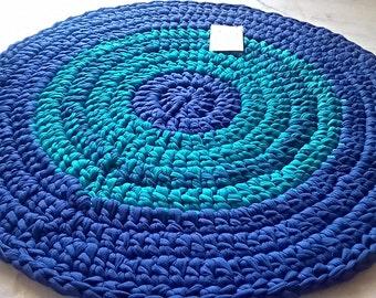 CARPET. HANDMADE. Recycled Cotton. Autumn Carpet. Autumn Sea and Earth.
