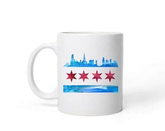 Chicago Flag Skyline Mug