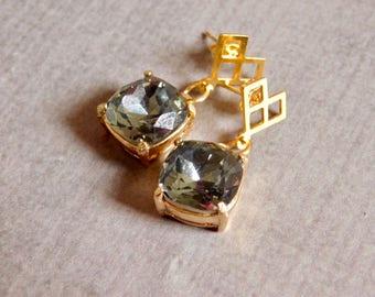 Smoky Glass Earrings: Formal Jewelry
