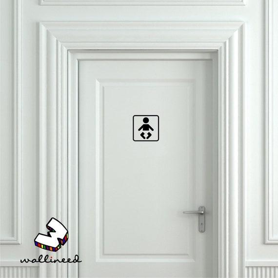 Beautiful Baby Changing Room Sign Baby Nursing Sign Door Sticker Door Decal