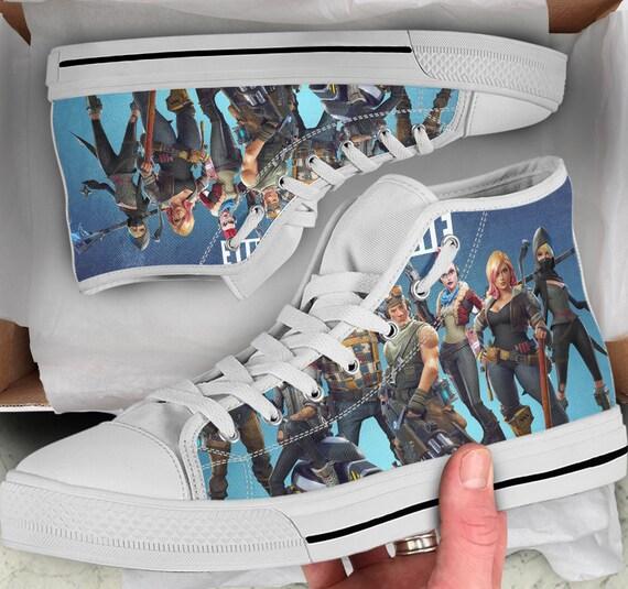 Looks Fortnite Tops Colorful Fortnite sneakers Sneakers Women's Shoes Fortnite Shoes like Converse Men's Shoes Tops high High 66tqHTw