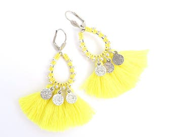 Limited Edition - BO BOLLY yellow lemon tassel