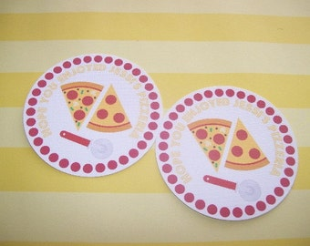Pizza Party gift tags