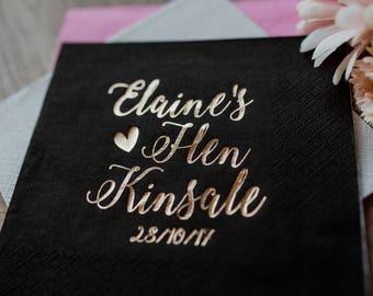 Personalized Napkins, Hen party napkins, Personalized Napkins, Custom Napkins, Wedding Napkins, Monogramed Napkins, Custom Luncheon Napkins