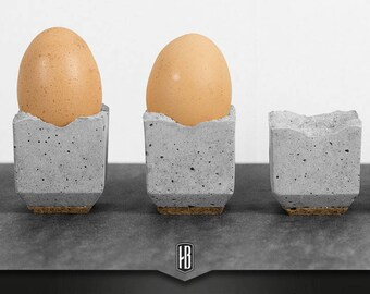 1x Egg Cup made of concrete with cork